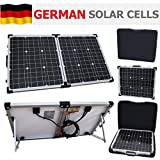 80W 12V Photonic Universe folding solar charging kit for a motorhome, caravan, campervan, car, van, boat, yacht - ideal for camping, caravanning, motorhome rallies, trade shows, mobile offices or any other off-grid 12V system (80 watt 12 volt)