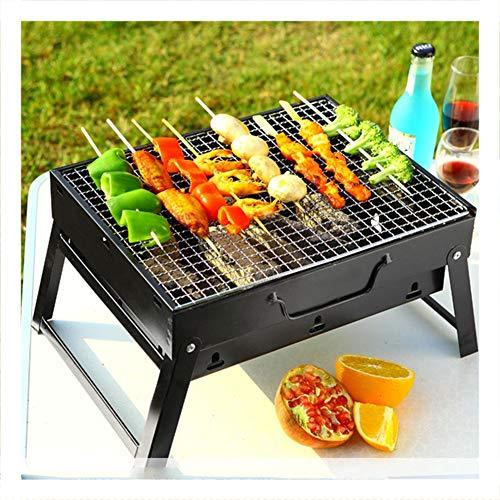 BBQ-Grill, tragbarer Holzkohle-Edelstahl-Grill, faltbarer Kohle-Garten-Reise-kampierender faltender Grill - Holzkohle-tisch, Wasserkocher