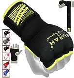EMRAH Boxe Boxe Bande per Le Mani Polsini Elastici Boxing MMA Bandages Guanti da Immersione Completa Boxe avvolge Impugnatura Pugilato Mano avvolge MMA Mano Boxing Wraps (Nero, Grande)