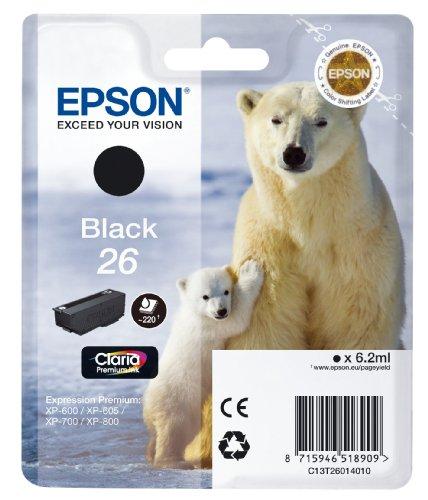 Epson T2601 Cartouche d'encre d'origine 220 pages 6,2 ml Noir