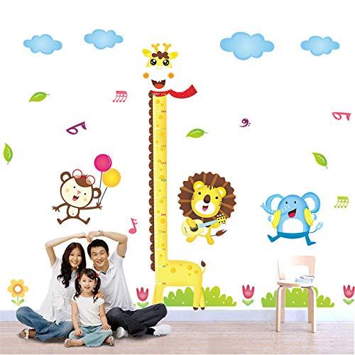 Yuxan Taille de Girafe Autocollants Enfants S Chambre bébé Grandir Essentiel échelle de Mesure de Mur d'école Maternelle 150X180Cm