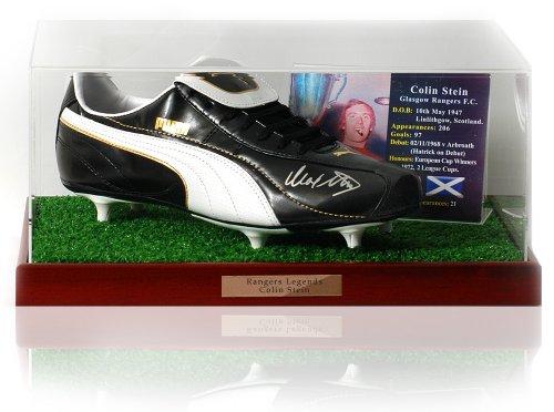 Colin Stein mano firmato scarpe da calcio