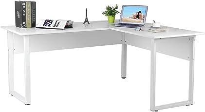 Blackpoolal L Form Schreibtisch Eckcomputertisch Eckschreibtische  Computerschreibtisch Eckschreibtisch Bürotisch Weiss Holz Computertisch  Winkelkombination ...
