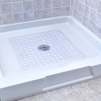 Slip-x Solutions Deluxe Square Shower Mat (Clear) 3