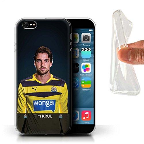 Offiziell Newcastle United FC Hülle / Gel TPU Case für Apple iPhone 6S+/Plus / Pack 25pcs Muster / NUFC Fussballspieler 15/16 Kollektion Krul