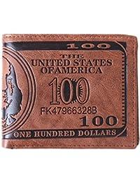 lnccomam US 100billetes de dólar cartera tarjeta de Crédito Foto Soporte Billetera de piel Para Hombre