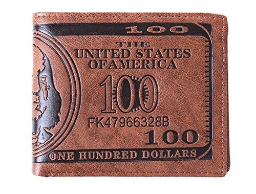 ma-on US Dollar Bill Wallet Leder Kreditkarte Foto Halter für Mann
