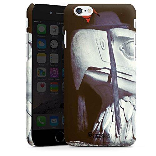 Apple iPhone X Silikon Hülle Case Schutzhülle Roboter Statue Adler Premium Case matt