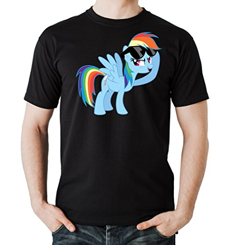 Rainbow Pony T-Shirt Nero-XL