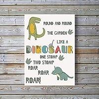 Dinosaur Posters for Boys Nursery Print, Toddler Wall Pictures, Boys Dinosaur Wall Art UNFRAMED A4