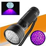Slri 51 LED UV Torch 395nm Ultraviolet Flashlight Fluorescent Agent Detector Tool - Black