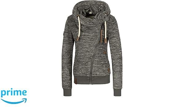 Naketano Female Zipped Jacket Jüberagend Pimped Livid Grey Melange, L