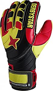 Derbystar columba protect pro gants de gardien de but 4 Noir - Noir/Jaune/Rouge