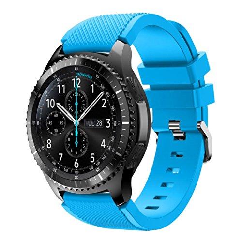 OVERDOSE Samsung Gear S3 Frontier Armband, Sport Silikon Armband Armband für Samsung Gear S3 Frontier (Himmelblau)