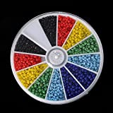 #6: 1000pcs 2mm Mixed Color Glass Seed Spacer Beads for Jewelry Making DIY (Solid)