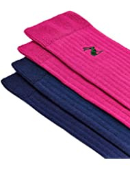 Joules Mens Ormesby Two-Pack Colour Block Drop Needle Ankle Socks