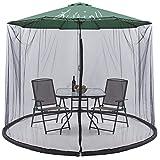 Liveinu Moskitonetz für Sonnenschirme mit Reißverschluss Fliegengitter Mückennetz für den Gartenschirm Ampelschirm