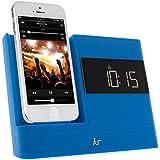 KitSound XDOCK 2 Radio Réveil avec Station d'Accueil et Connecteur Lightning pour iPhone 5/iPhone SE/iPod Nano 7/iPod Touch 5 - Livré avec Prise EU – Bleu