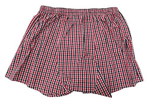 Herren Wiesen Shorts im Lederhosenstyle Rot Weiß kariert Rot