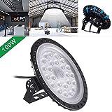 UFO LED Beleuchtung,Glasdach 50W 100W 200W 300W 500W Glänzende Beleuchtung Comercial Bahia LED Lager Deckenleuchte Kristall (100W)