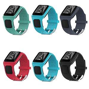 TomTom Correa, Malloom Repuesto del gel de silicona banda correa para TomTom Multi Sport / Cardio GPS Watch Reloj marca Malloom