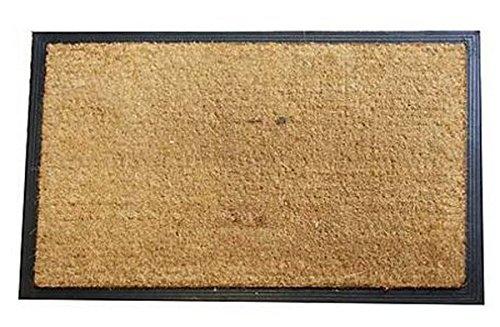 Felpudos de fibra de coco (60x 90, negro/marrón