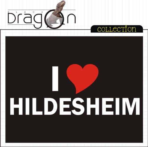 T-Shirt mit Städtenamen - i Love Hildesheim - Herren - unisex Schwarz