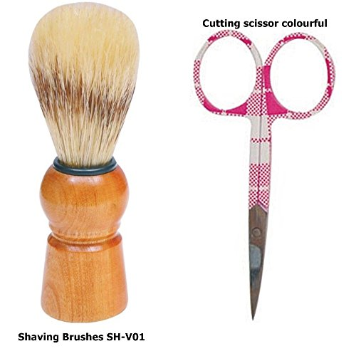 Babila Shaving Brushes + Cuticle Scissor Colourful