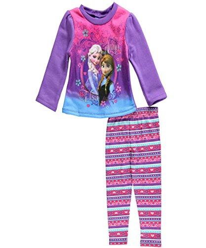 Frozen Little Girls 'Kleinkind Magical Sisterhood 2-teiliges Outfit - lila, 2t