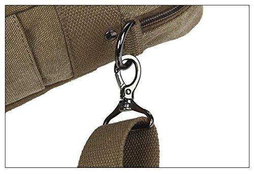 MYLL Uomini Daffari Cartella Canvas Shoulder Handbag Oblique Croce Pacchetto LaptopPack Blue