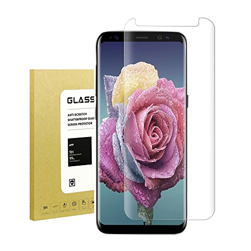 Für Galaxy S8 Schutzfolie, Halier 9H Härte- Kratzer- Einfaches Anbringen - Transparent Blasen und Fingerabdruck, 99% Transparenz, Displayschutzfolie für Samsung Galaxy S8