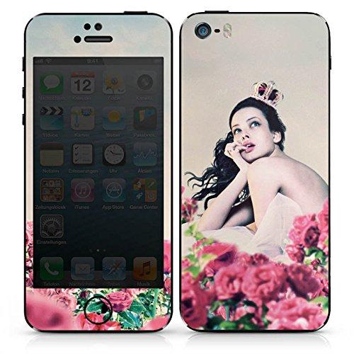 Apple iPhone 4s Case Skin Sticker aus Vinyl-Folie Aufkleber Prinzessin Rosen Krone DesignSkins® glänzend