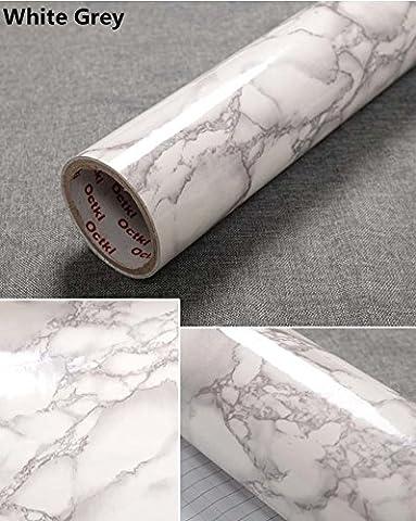 Effet Marbre Effet Granite yancorp Comptoir Film vinyle autocollant Papier peint peel-stick 61x 198,1cm, 61cmx2m, gris