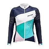 Uglyfrog HHWLW03 Winter Fleece Warm Fahrradtrikot Langarm Shirt Damen Thermo Radfahren Fahrrad Klassisches Design Fahrrad Hemd Damen Fahrradbekleidung Geschenke für die Lady