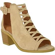 Fashion Thirsty Donna Basse Sandali con Zeppa e Lacci con Lacci Cut out  Scarpe Cinturino alla 60194e514ab
