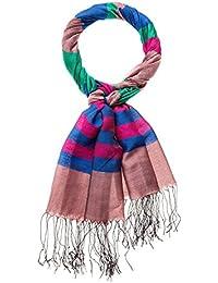2cba31636fc1 HAPPY EDITION écharpe rayée avec franges, multicolore, ...