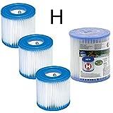 4 cartucce di filtraggio Intex per filtro piscina, Intex TIPO H