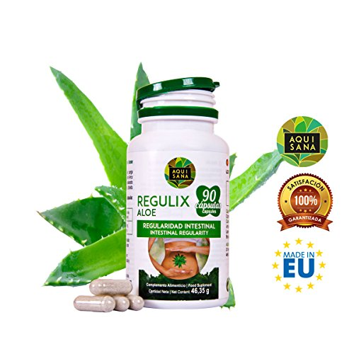 Detox Aloe Vera zur Darmreinigung – Natürliches Detox zur Entgiftung des Körpers – pflanzliches Nahrungsergänzungsmittel zum täglichen Verzehr – 90 Kapseln