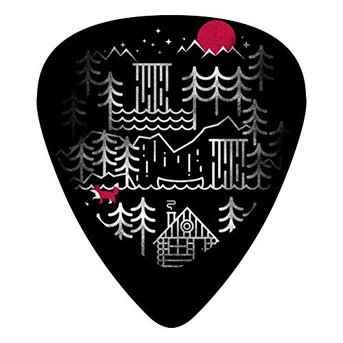 Nightcabin Guitar Picks Celluloid Medium Mens Complete Assorted 12 Pack -