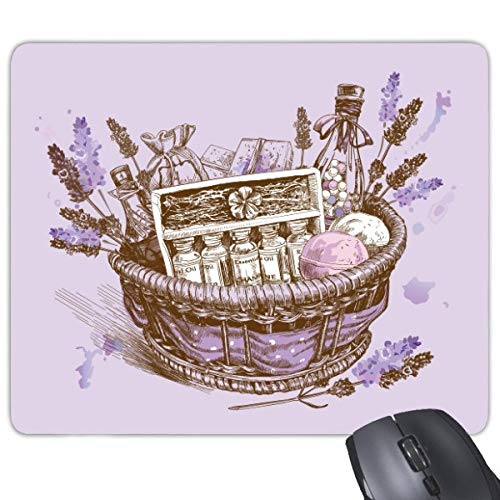 beatChong Blumen Pflanze Malerei Geschenk Lavendel Korb Griffige Gummi Mousepad Spiel Büro Mauspad Geschenk (Spiele-geschenk-korb)