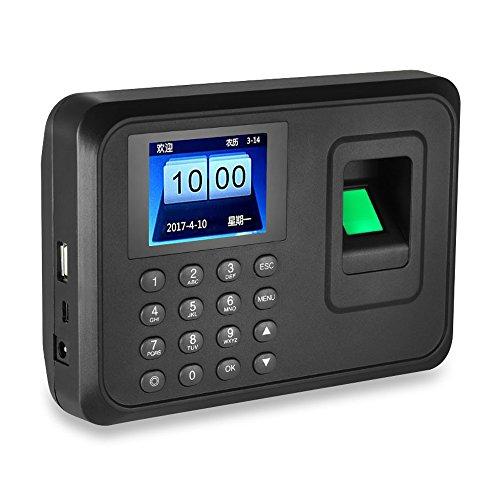 HFeng 2.4 pollici Biometrico di impronte digitali macchina di presenza Finger scanner USB Time Card locker software libero password Dipendente Checking-in Recorder 600 utenti per Office/Home