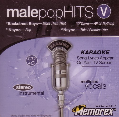 Male Pop Hits V - Backstreet Boys, Nsync, O'Town (Karaoke CD+G) by N/A (0100-01-01) (Karaoke-cds Boys Backstreet)