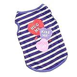 Gilet T-shirt Vêtement Sans Manches Pour Animaux Chien Chat-Violet S