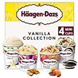 Häagen-Dazs Vanilla Ice Cream Minicup Collection, 4 x 100ml (Frozen)