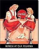 Coca Cola Coke Refresh bei Unsere Füllfederhalter retro vintage Blechschild