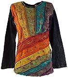 Guru-Shop Goa Langarmshirt Stonewash 3, Damen, Mehrfarbig, Baumwolle, Size:M (38), Pullover, Longsleeves & Sweatshirts Alternative Bekleidung
