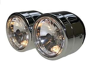 Double phare chromé avec numéro E H7& H455/60W pour Honda CB 600, CB 900Hornet CB600CB900