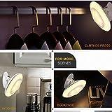 Bovon LED Nachtlicht mit Bewegungsmelder 360°Drehbare LED Sensorleuchte, Abnehmbar & Magnetisch & Tragbar USB Aufladbar Baby Nachtleuchte für Kinder Flur Treppen Küche Schlafzimmer und Bad (Warmweiß)