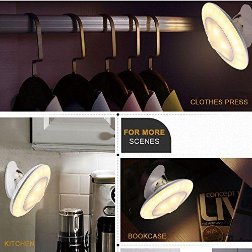 Bovon Nachtlicht Bewegungsmelder, 360° Drehbare LED Nachtlicht Baby, Abnehmbar & Magnetisch & Tragbar USB Aufladbare Kinder Nachttischlampe Dimmbar für Flur Treppen Küche Schlafzimmer Bad (Warmweiß)