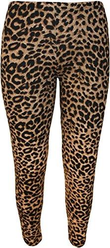 Neue Frauen Plus Size Leopard Print Maxi Swing-Kleid Leggings Palazzos 36-58 Leggings